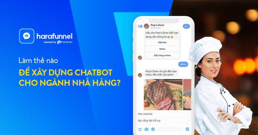 Xây dựng chatbot cho nhà hàng bằng Harafunnel