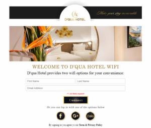 WiFi Marketing tại khách sạn D'Qua